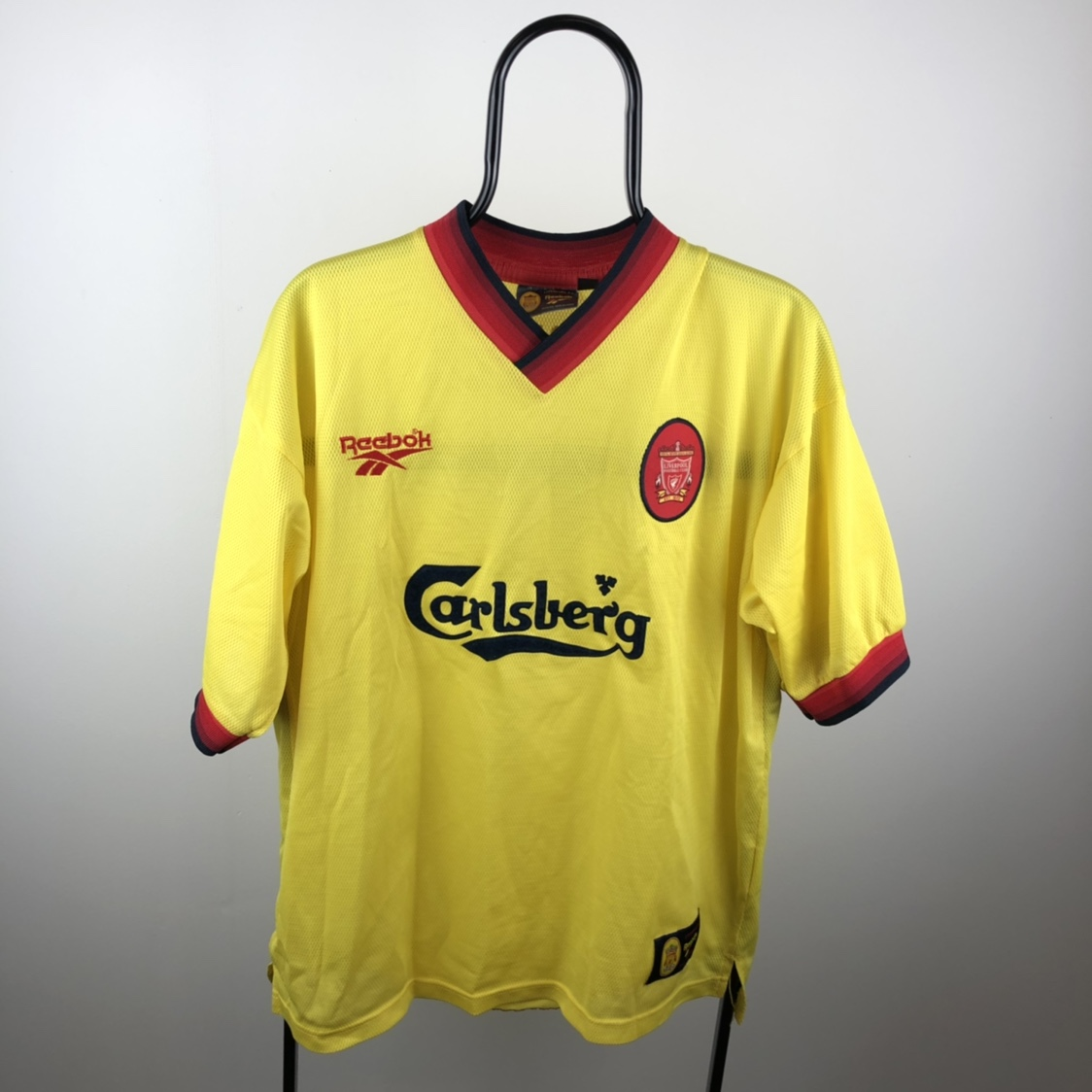 quality design f3be5 aa586 Vintage Liverpool Yellow Away Kit 1997/1998. A... - Depop
