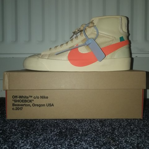 f9e19b03b65c27 SOLD)) NOT AVAILABLE!! Off - White x Nike Blazer Mid - Depop