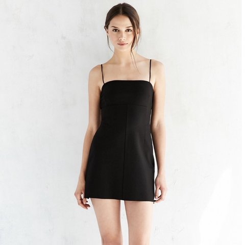a1666459f17c @amaraemily. 6 months ago. Exeter, United Kingdom. Urban outfitters silence  and noise Black Audrey a line slip dress.