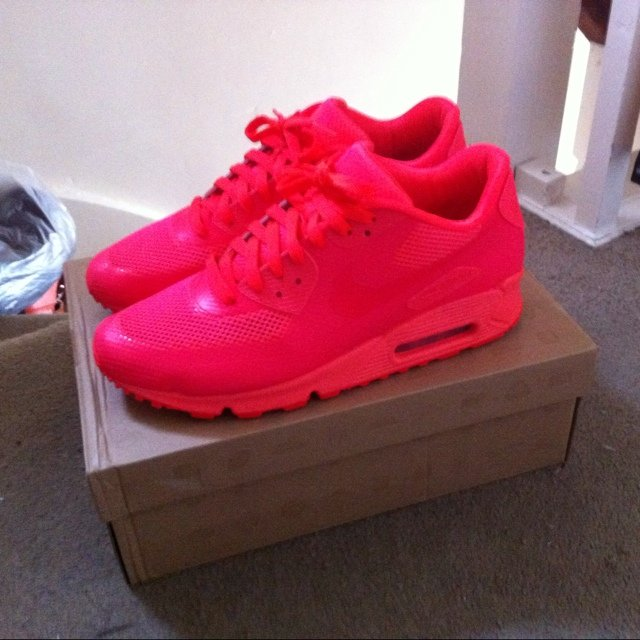 f86bbea3 1000% Authentic Nike Air max 90 Hyperfuse Solar Red size 9uk - Depop