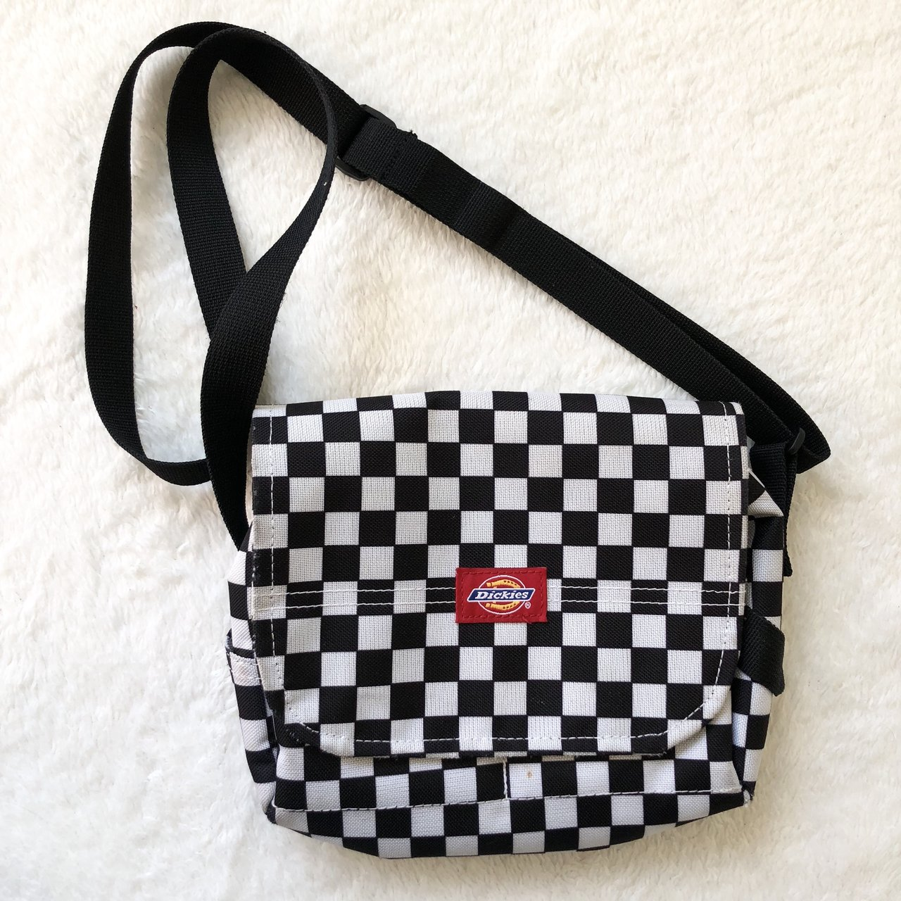 Rare vintage Dickies black and white checkered crossbody and - Depop d1dd7e591c8ec