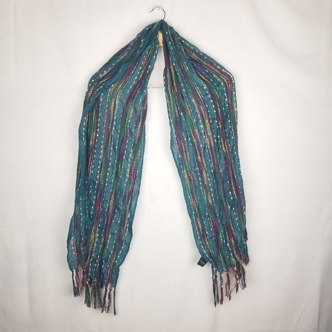3fc800d9b8fe6 @husklady. in 22 hours. San Juan, Hidalgo County, United States. Teal  Colored Colorful Scarf.