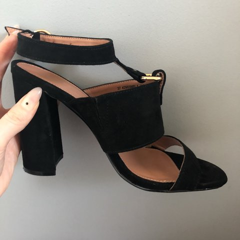 aa141457311 Topshop backless heeled sandals Open toe Worn once for a - Depop