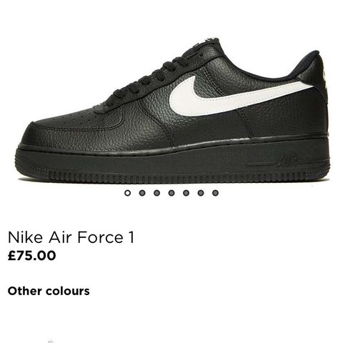 official photos 73df0 dd0ef  maxlovell. last year. Basingstoke, United Kingdom. Nike Air Force 1. All  black with white reflective tick.