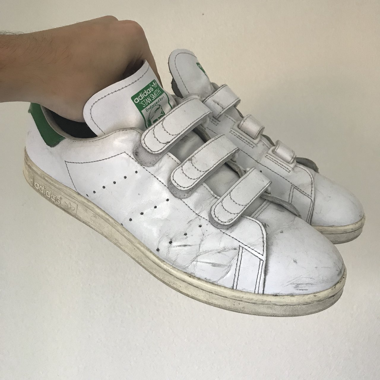 ADIDAS    stan smith VELCRO size  11.5 tags  80s 90s y2k - Depop cf49794d0