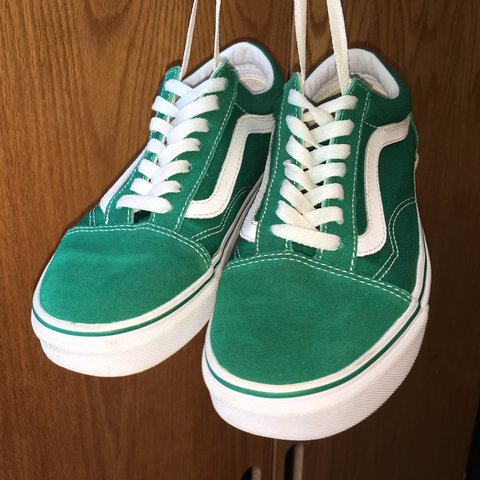 8e01e707d8b ultramarine green vans  45 size  6.5 us w  5.0 us m lightly - Depop