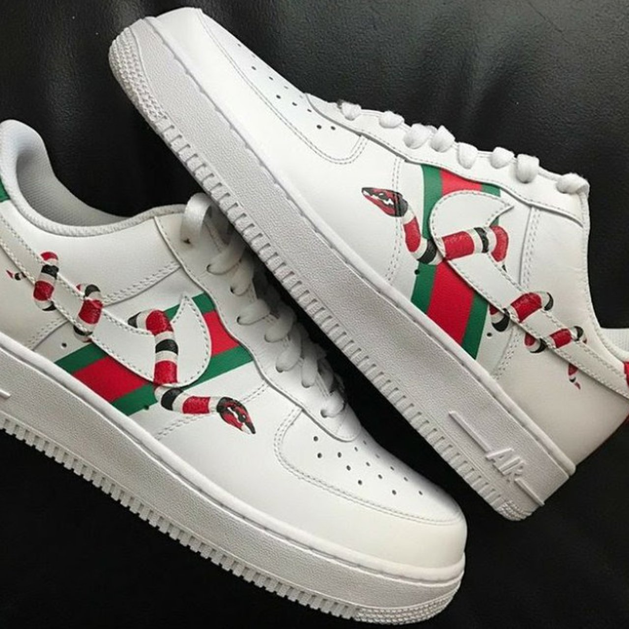 these are custom gucci x nike custom shoes are newly