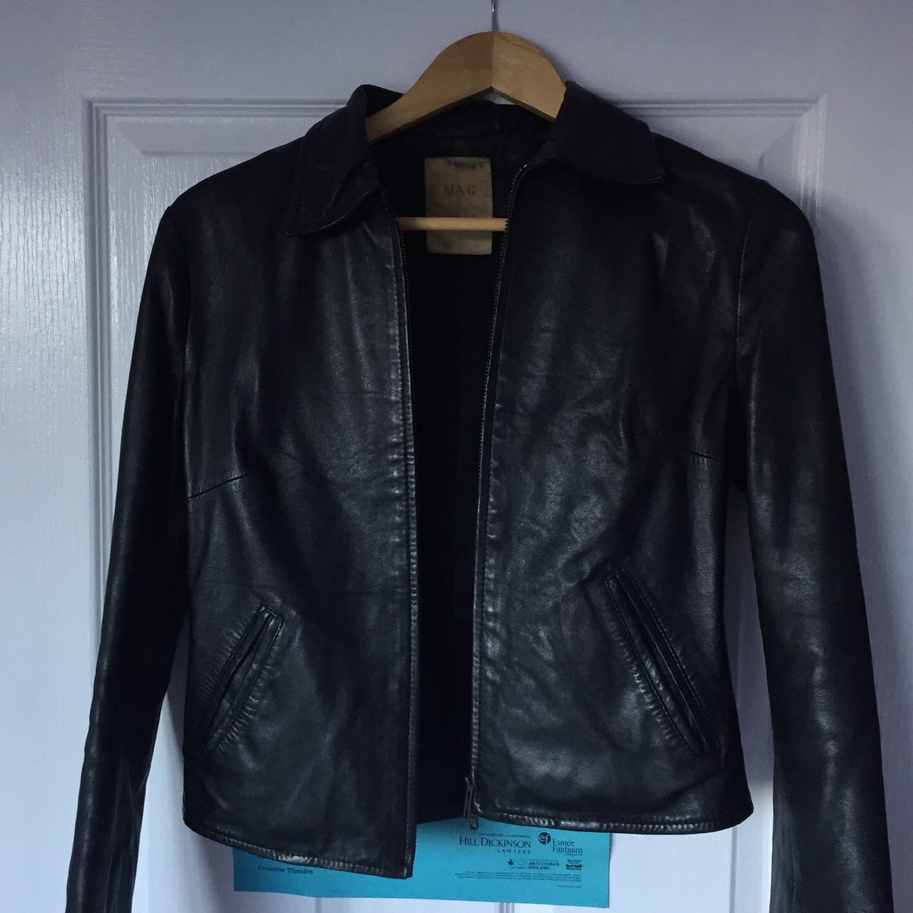 Genuine Leather Jacket From Mango Haven T Worn In Over A In Depop