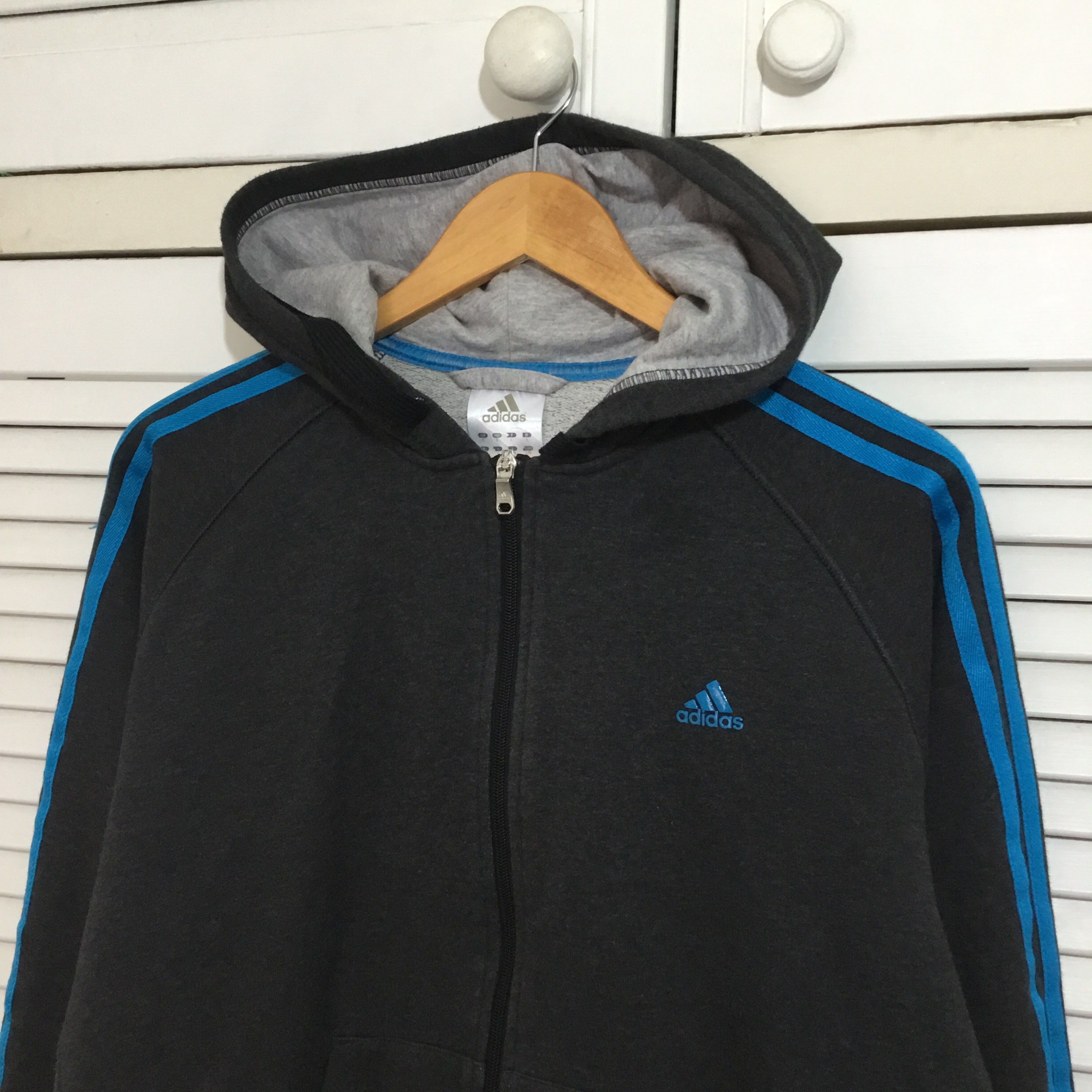 Men's Adidas Zip up hoody PREMIUM ESSENTIALS Depop