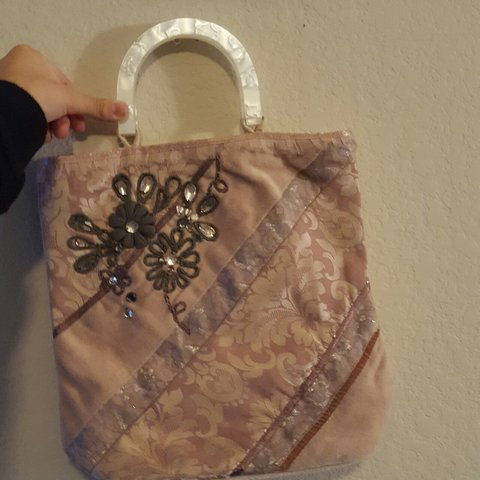 8519134eec Adorable blush pink bag/ purse with plastic pearl marble new - Depop