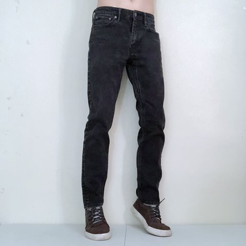46b93816631 @midwestgoth. 2 months ago. St. Louis, United States. Faded black Levi's 511  slim fit denim ...