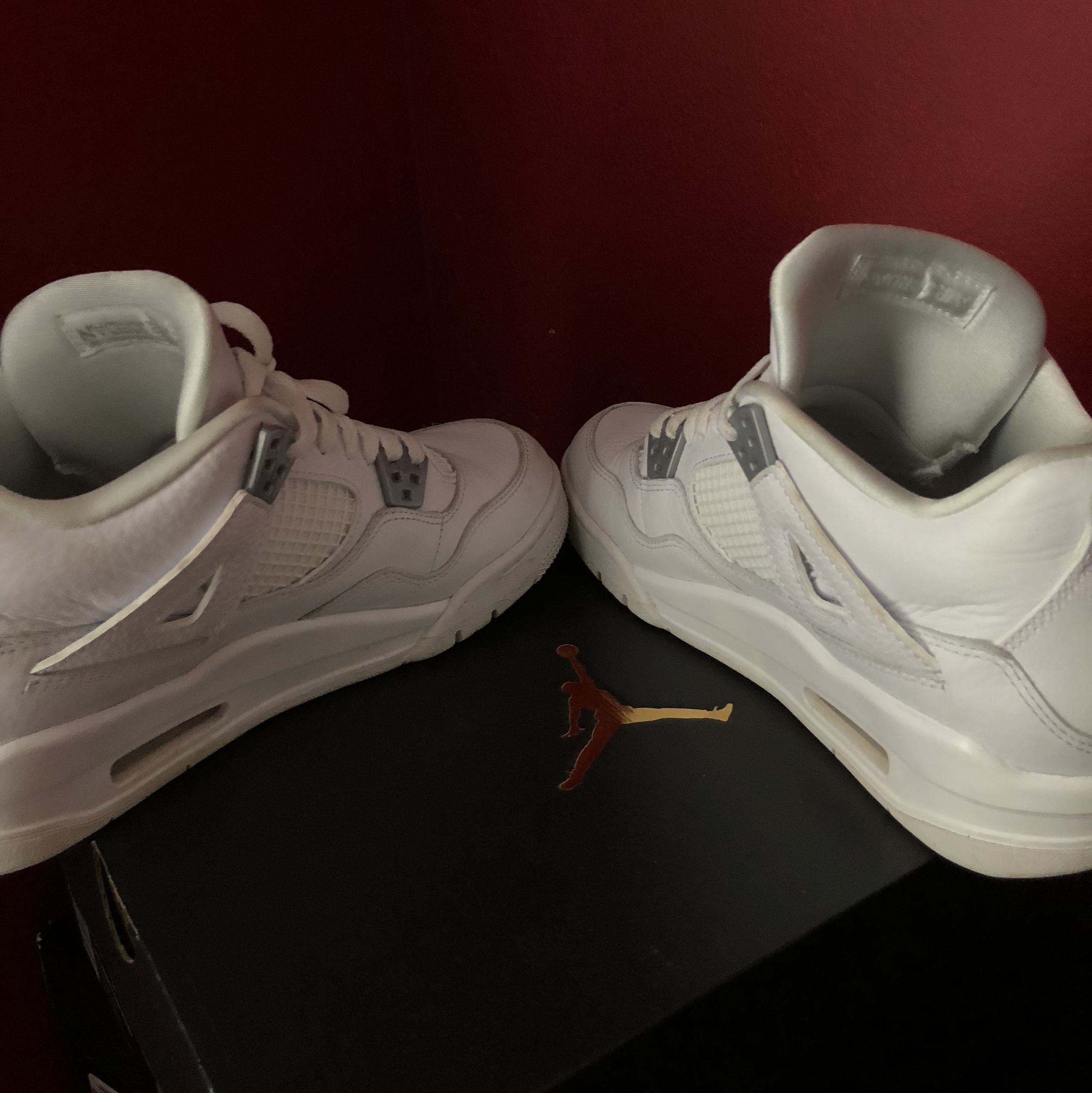 newest e6f06 bf02a all white jordan 4s * ON HOLD * size 6.5Y (can fit... - Depop