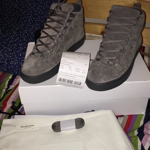 03ffab52e8cd6 Balenciaga Arena Grey Suede Size 41 but it s for people all - Depop