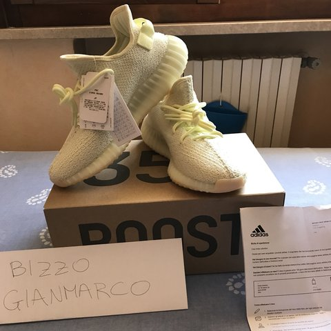 f019080e2 Yeezy boost 350 V2 butter Condition ds Size 42 2 3 - 9 us - Depop