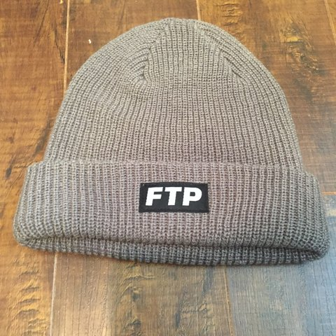 Grey ftp beanie from the August drop  4.50 shipping  ftp - Depop 9b3f0f55907b