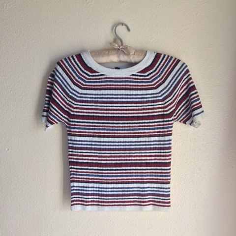 37a2375099 @missesbluesky. 2 years ago. Largo, United States. H&M Divided striped  ribbed top.