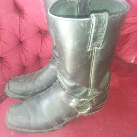 Size 10us Motorcycle Boots Made In Canada Biker Moto Depop