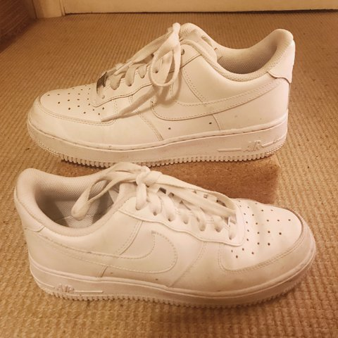 best authentic 43839 85527 Nike Air Force 1 s, all white, in great condition 9 10, only - Depop