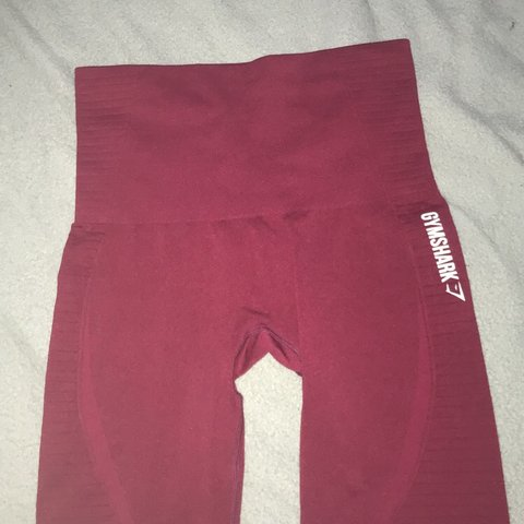 629637ff04b8e @elllieab. 5 hours ago. Stafford, United Kingdom. Original high waisted  gymshark seamless leggings in beet marl (red ...