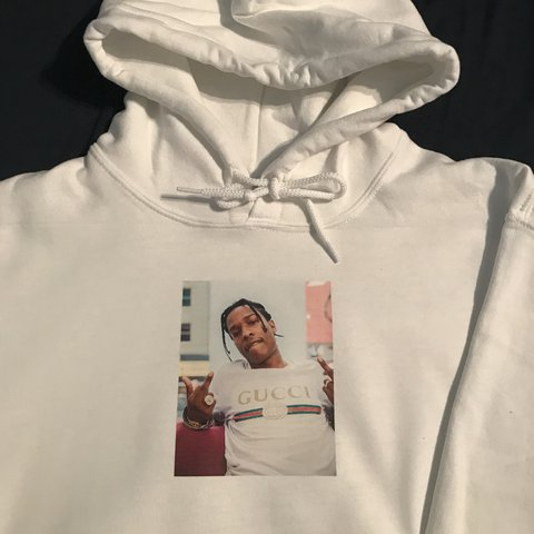 98079b29edc  ybnstore. in 10 hours. United Kingdom. ASAP rocky hoodie. Custom Brand new.  All sizes available. MESSAGE BEFORE BUYING