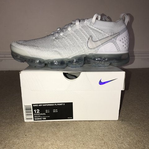 1eb4468d03263 Brand new Nike air VaporMax flyknit 2 white With box and to - Depop