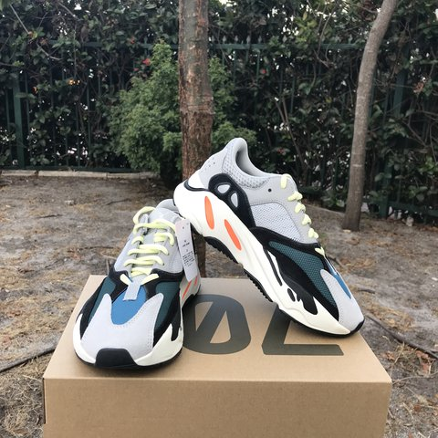 79abff16d7d60 Size 6 DeadStock Adidas Yeezy Boost 700 Wave Runner Color  - Depop