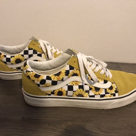 buy \u003e vans checkered with flowers, Up