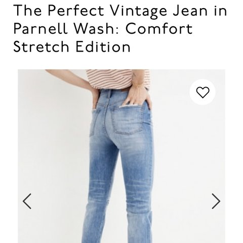 74535a77b1 @crenie. 3 months ago. Denver, United States. The Perfect Vintage Jean in  Parnell Wash: Comfort Stretch Edition