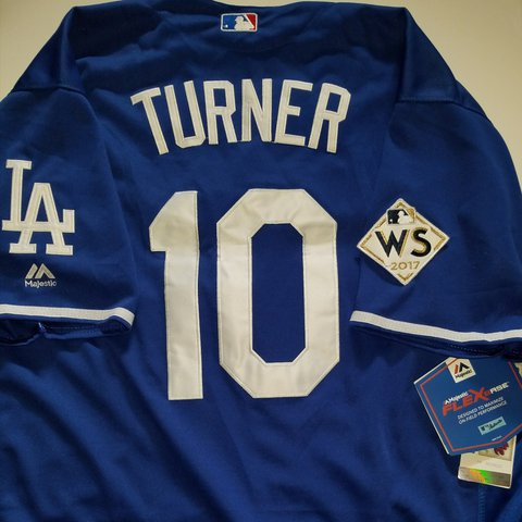 Brand new Authentic Dodgers world series jersey   10 Turner - Depop 7456c1f3856