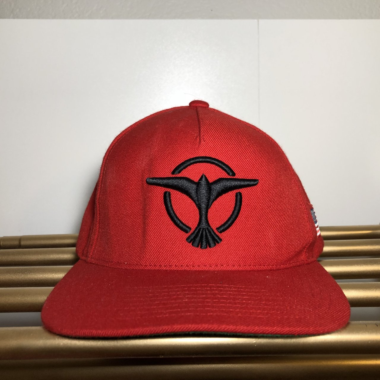 Red Tiësto SnapBack with green tone under the hat. Was at at - Depop 65d70f56560