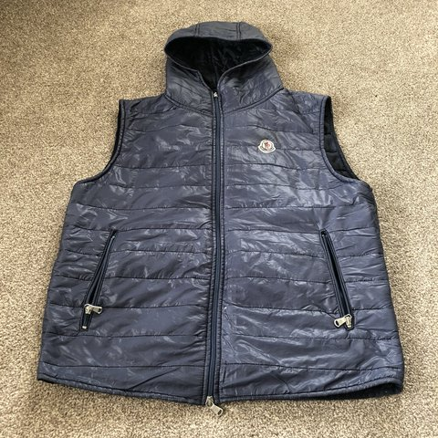 moncler body warmer blue