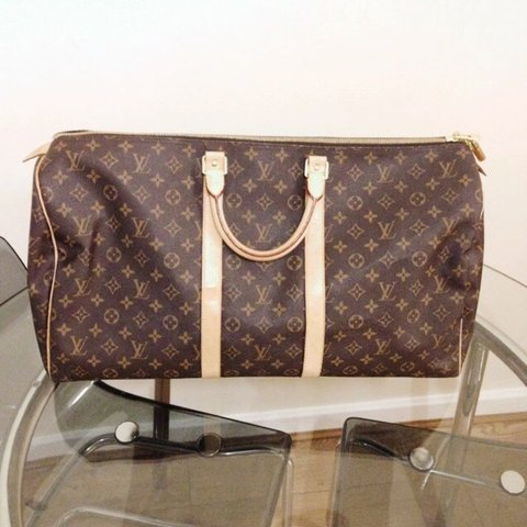 35923cd9ed9c Authentic Louis Vuitton Keepall 55 travel luggage hardly in - Depop