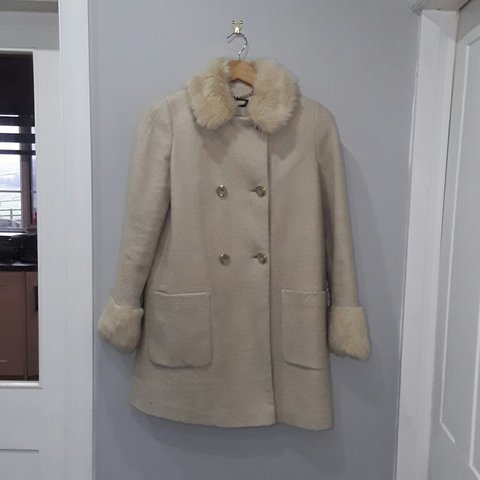 7b063384baec @katieleach56. 5 months ago. Lancashire, United Kingdom. Miss Selfridge  Faux Fur Collar And Cuff Coat