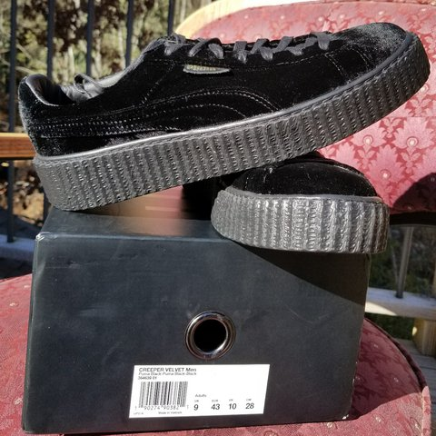 Fenty X Puma Black Velvet Creepers. They are a mens size 10 - Depop 16a48213a