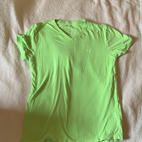 e07f63eb1d @sneakerqueennn. last month. United States. Men's American eagle green v  neck t shirt. Size medium ...