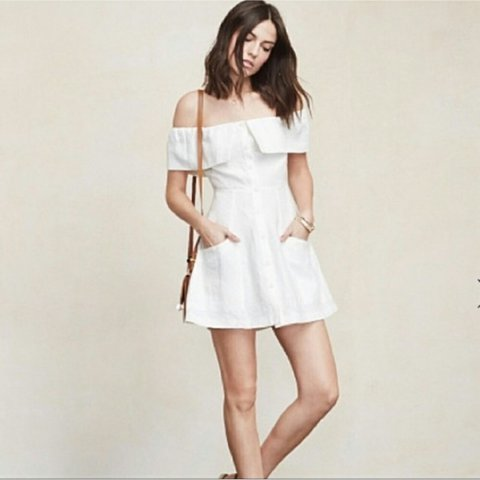 347907a5ba Reformation botanica dress white linen. Bought used