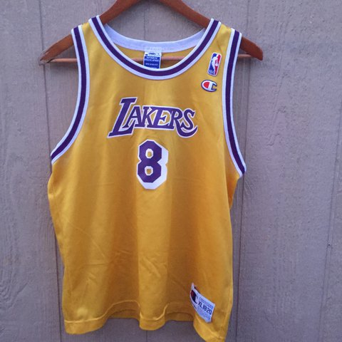 6363c949222 Kobe Bryant  8 jersey 🍋 Size youth xl Brand Champion in - Depop