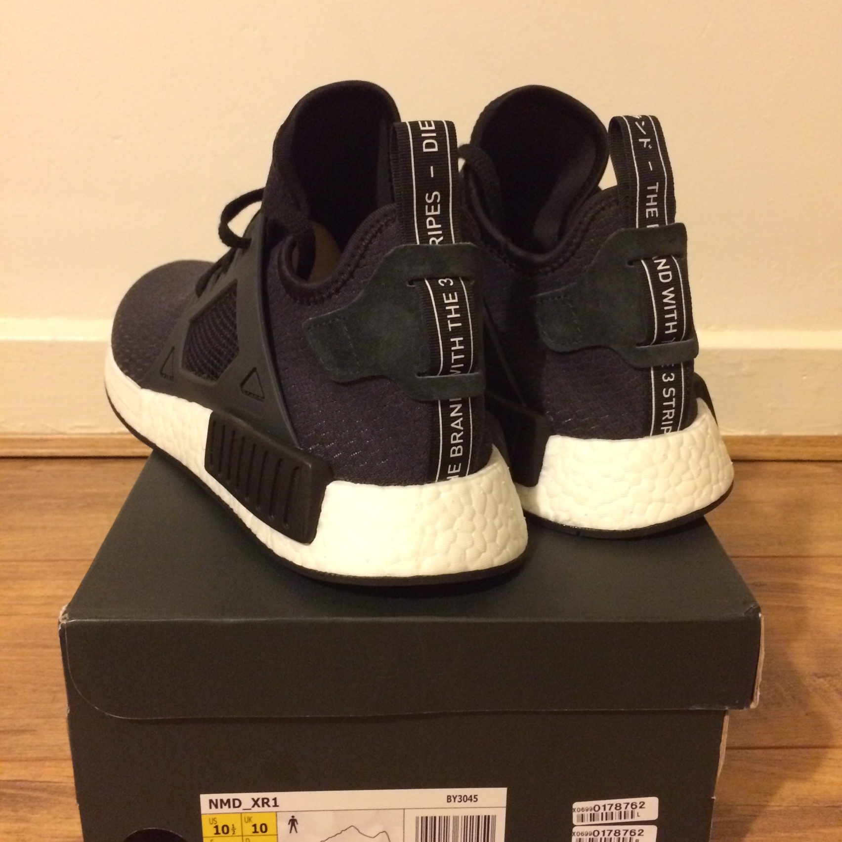 separation shoes b4e99 9881e Adidas NMD XR1 Mens size UK 10 Black and White 100%... - Depop