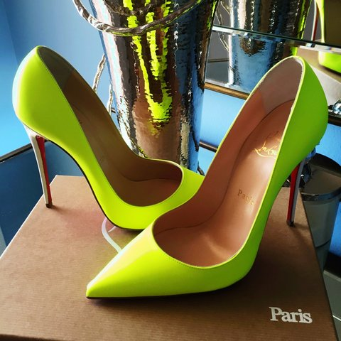 df92f36a586e Authentic Christian Louboutin So Kate 120mm Fluo Matte Neon - Depop