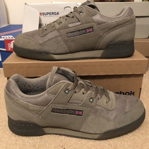 415f1f018f6 Reebok Workout Plus TN Khaki Hunter Green Size UK8.5 - Depop