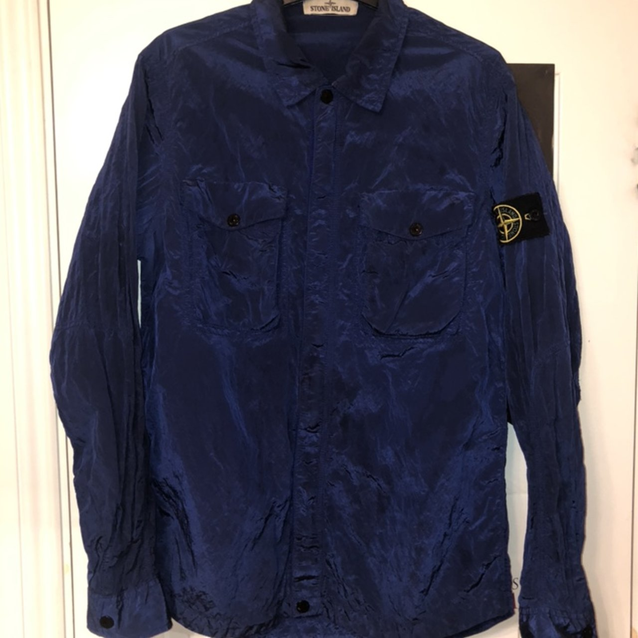 9e379dbd940 Stone Island Shimmer Overshirt Royal Blue Size. Sold. £185. Barbour Bucket  hat Great condition Size Medium