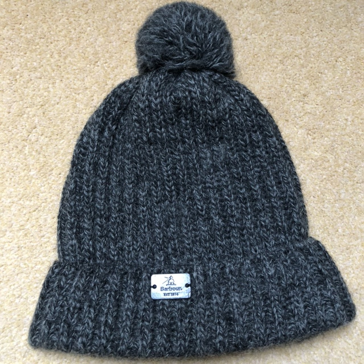 bfa83c89612 Barbour Wooly Bobble Hat Made in