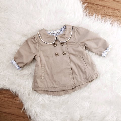 1237ceee6ddd 👶🏼💕Next baby girls jacket  mac  trench coat never worn in - Depop