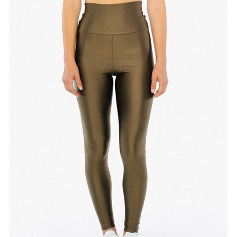 a10ced08718668 High waisted American apparel leggings. Swipe right to see a - Depop