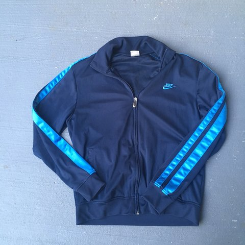 e6b092e54 @aestheticandfriends. last year. Rockville, United States. Navy and light  blue nike Windbreaker Jacket