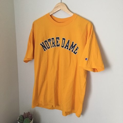 d030dd668c1d @aestheticandfriends. in 3 hours. Rockville, United States. Vintage yellow notre  dame champion tee