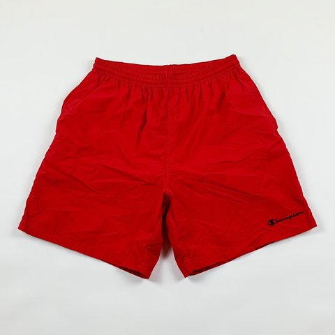 f36a298a9c @124thrifts. 3 hours ago. Gaithersburg, United States. Vintage Champion  Spellout Swim Trunks