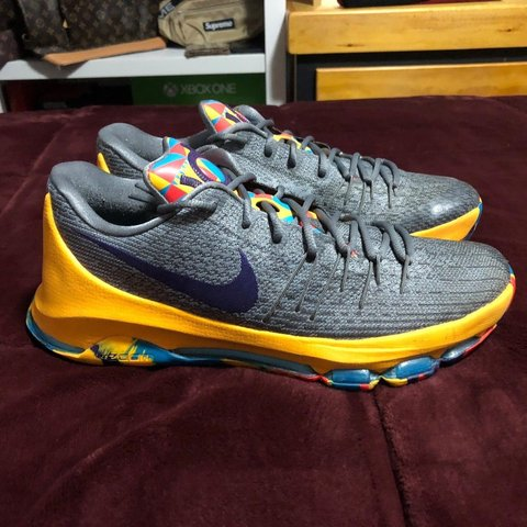 495590028825 NIKE KD 8 VIII PG COUNTY MENS GRAY KEVIN DURANT BASKETBALL - Depop