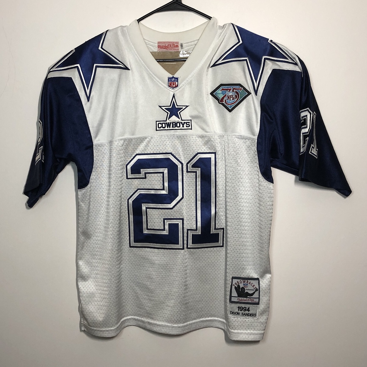 super popular b24d5 c1844 Mitchell & Ness Dallas Cowboys Deion Sanders 1994... - Depop