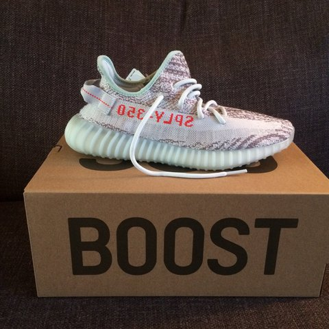 f43f1ebff6c Yeezy boost 350 v2 blue tint. Size 8.5. Ordered from the Any - Depop